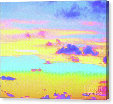 Surf Lifestyle Canvas Print - Painted Skies by Chris Andruskiewicz