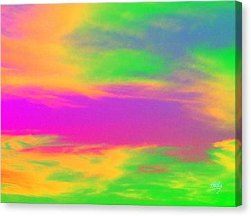 Painted Sky - Abstract Canvas Print by Linda Hollis