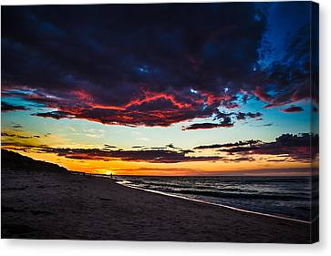 Painted Sky Canvas Print by Peter Scott