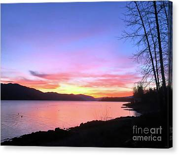 Canvas Print featuring the photograph Painted Sky by Victor K
