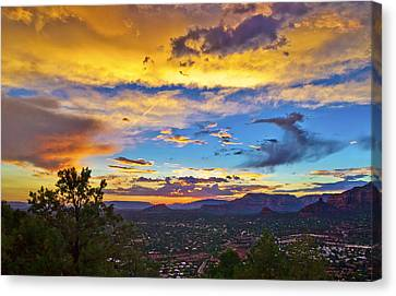 Painted Sky's Over Sedona Canvas Print