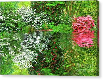 Painted Spring Garden By Kaye Menner Canvas Print