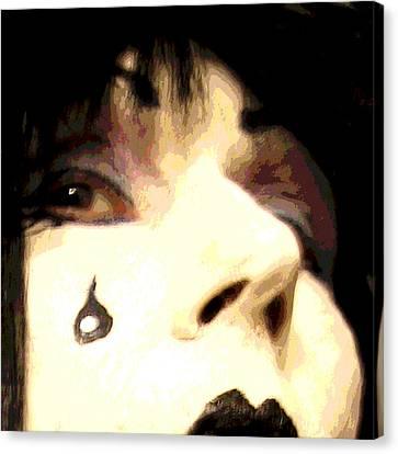 Painted Tear Drop Canvas Print