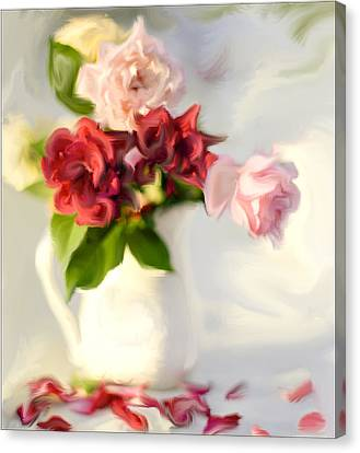 Painted Teas Canvas Print