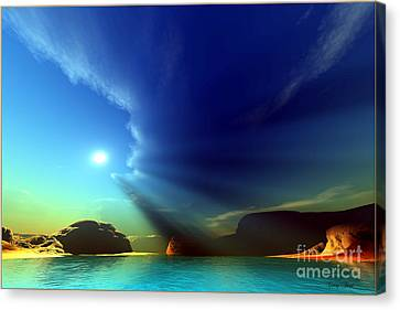 Painted Veil Canvas Print by Corey Ford