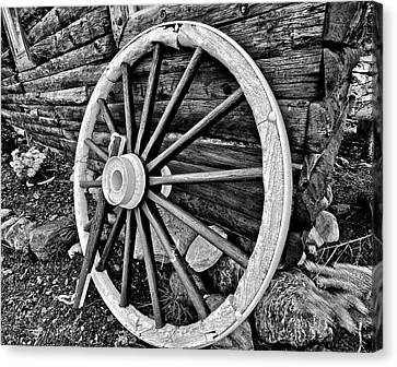 Wagon Wheels Canvas Print - Painted Wagon by Ed Boudreau
