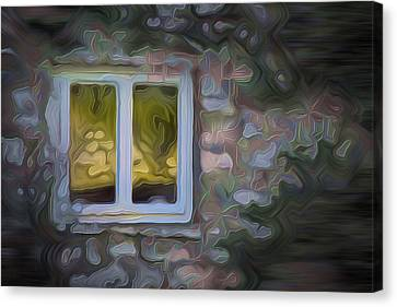 Painted Window Canvas Print