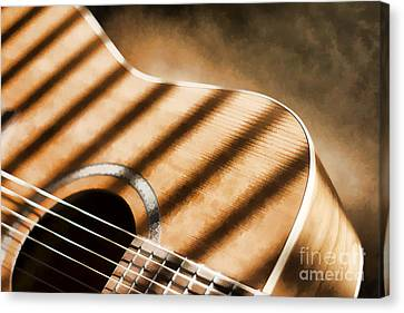 Painterly Acoustic 1 Canvas Print by Gordon Wood