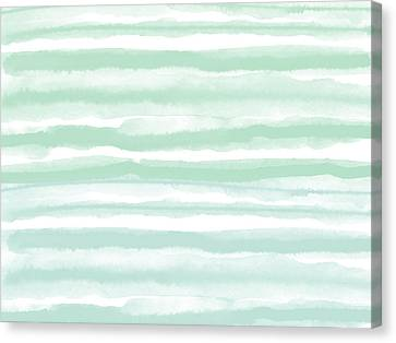 Painterly Beach Stripe 2- Art By Linda Woods Canvas Print