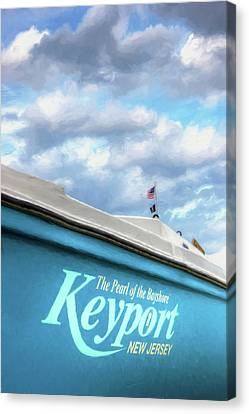 Canvas Print featuring the photograph Painterly Keyport Sailboat by Gary Slawsky