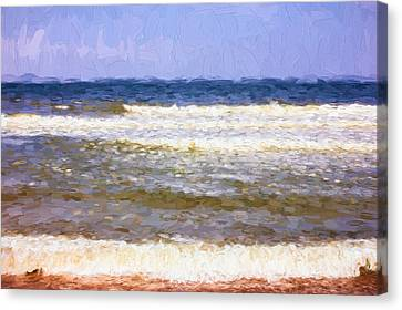 Impressionist Canvas Print - Painterly Seascape by Pati Photography