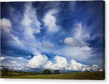 Painterly Sky Over Oklahoma Canvas Print