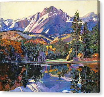Autumn Leaf Canvas Print - Painter's Lake by David Lloyd Glover