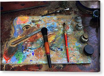 Canvas Print featuring the photograph Painter's Palette by Jessica Jenney