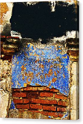 Painter's Wall By Darian Day Canvas Print by Mexicolors Art Photography