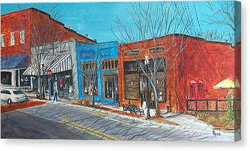 Paintin The Town Canvas Print by Pete Maier