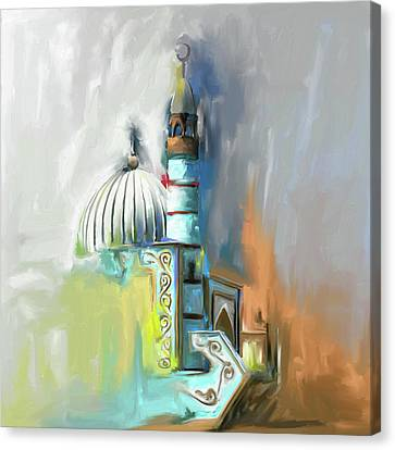 Kyrgyzstan Canvas Print - Painting 690 1 Naryn Mosque by Mawra Tahreem