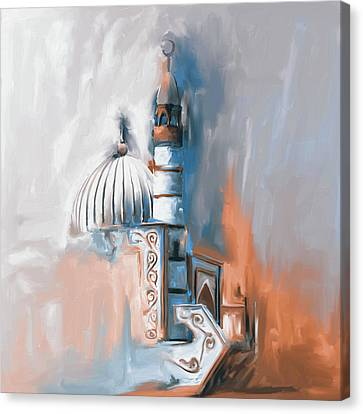 Kyrgyzstan Canvas Print - Painting 690 2 Naryn Mosque by Mawra Tahreem