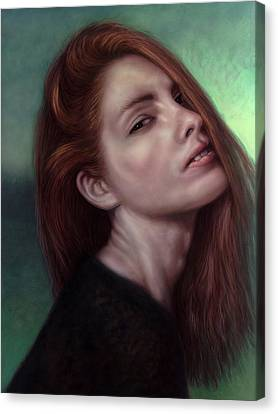 Painting Of A Woman I Will Never Know Canvas Print by James W Johnson