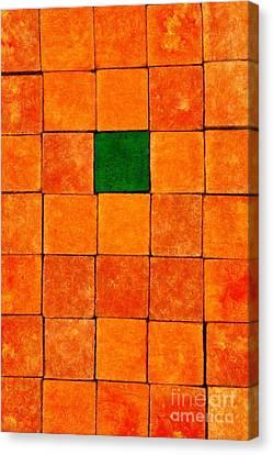 Painting Of Handicraft Cubes Canvas Print by George Atsametakis