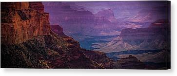 Painting The Canyons Canvas Print by Kathleen Odenthal