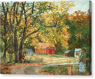 Painting The Fall Colors Canvas Print