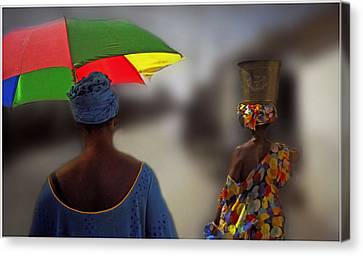 Canvas Print featuring the photograph Painting The Streets Of Kayar by Wayne King