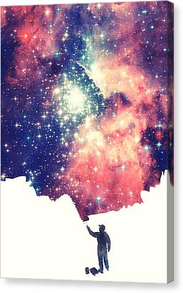 Painting The Universe Awsome Space Art Design Canvas Print by Philipp Rietz