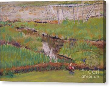 Canvas Print featuring the painting Painting The Wetlands by Terri Thompson