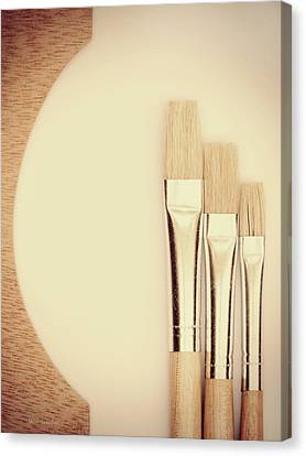 Three Sizes Canvas Print - Painting Tools by Wim Lanclus