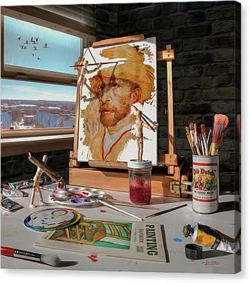 Painting Van Gogh Canvas Print by Dennis Line