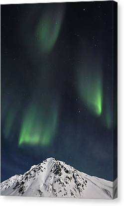 Paintings Of Aurora Borealis Canvas Print by Sam Amato