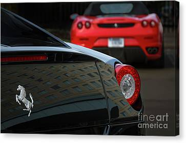 Canvas Print featuring the photograph Pair Of Ferraris by Dennis Hedberg