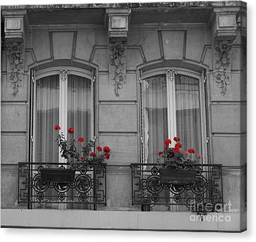 Ironwork Canvas Print - French Windows by Juli Scalzi