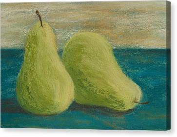 Pear Canvas Print - Pair Of Pears by Cheryl Albert