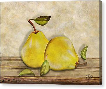 Pair Of Pears Canvas Print by Nina Bradica