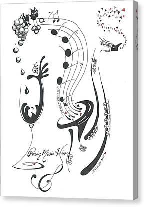 Pairing Music To Wine Canvas Print