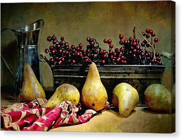 Pairs Of Pears Canvas Print by Diana Angstadt