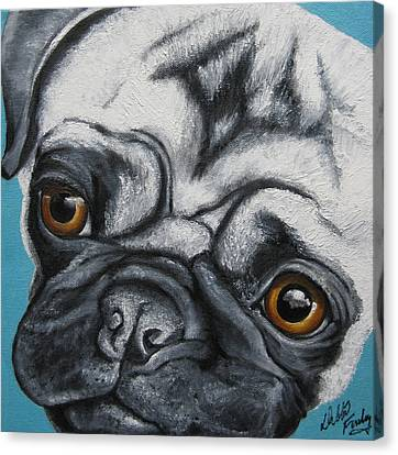 Canvas Print - Paisley Pug by Debbie Finley