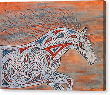 Paisley Spirit Canvas Print by Susie WEBER