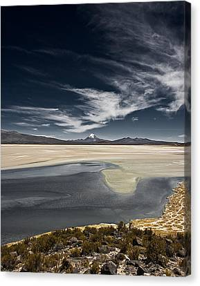 Canvas Print featuring the photograph Sajama In The Distance by Ron Dubin