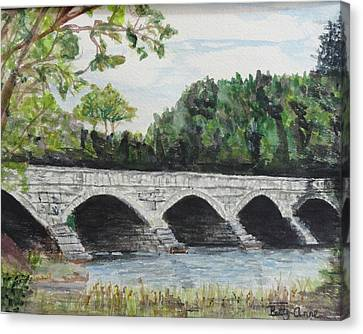Pakenham Bridge Canvas Print by Betty-Anne McDonald