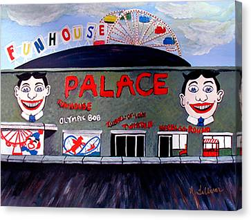 Palace Amusements Asbury Park Nj Canvas Print by Norma Tolliver