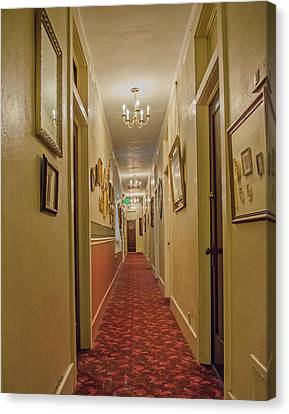 Palace Hotel Hallway Canvas Print by Allen Sheffield