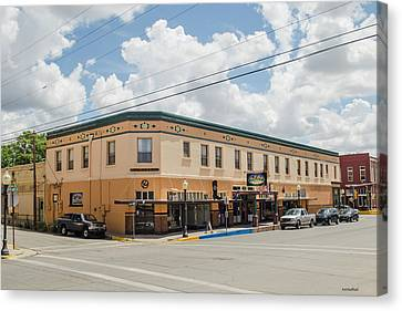 Palace Hotel In Silver City, N M Canvas Print by Allen Sheffield