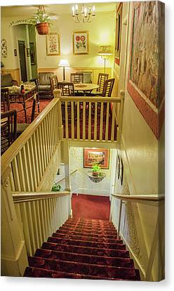 Palace Hotel Staircase Canvas Print by Allen Sheffield