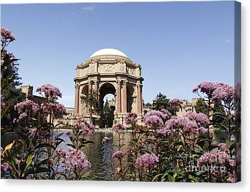 Canvas Print featuring the photograph Palace Of Fine Arts by Denise Pohl