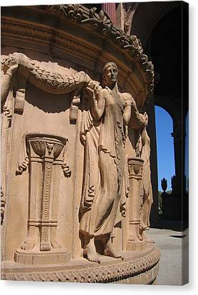 Palace Of Fine Arts Maiden In San Francisco Canvas Print