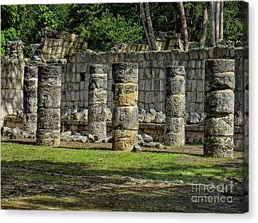 Palace Of The Sculptured Columns - Chichen Itza - Mexico. Canvas Print