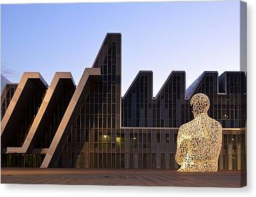 Canvas Print featuring the photograph Palacio De Congresos Zaragoza Spain by Marek Stepan